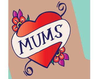 Mothers Day Card - Mums Tattoo