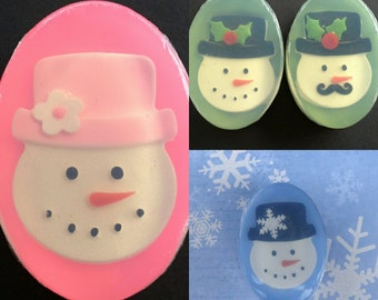 Snowman or Snowlady Soap - Choice of scents and colors