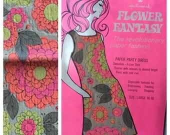 1960's Hallmark Paper Dress Size Large