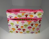 Double Zippered Notions Bag / Pencil Case / Clutch / Travel Bag - 100% Cotton and fully lined