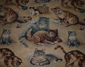 1 Yard Cats and Kittens Tapestry Fabric