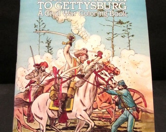 From Antietam to Gettysburg, A Civil War Coloring Book Vintage