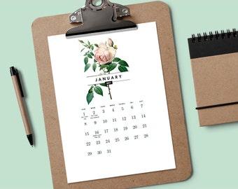 Druckbare Kalender - Vintage