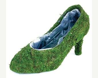 Moss shoe Planters 12 pumps-Shoe Baskets-Moss shoe-Moss planters