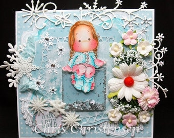 Magnolia Tilda Winter Shaker Any Occasion Card