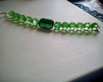 Emerald Green Glass Bracelet.