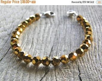 20% OFF Gold Crystal Medical ID Detachable Bracelet, Faceted Crystal Replacement Bracelet