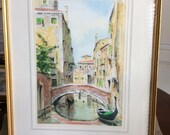 Felix Watercolor And Pencil, Italian Scene, Original Painting 14.5 x 20