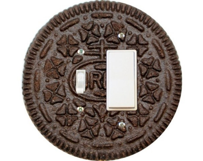 Chocolate Sandwich Toggle and Decora Rocker Switch Plate Cover