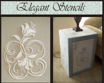 Wall Stencil Plaster Stencil Douceur Furniture Stencil
