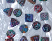 18 unusual funky handmade buttons (set18_06)