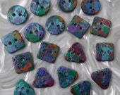 18 unusual funky handmade buttons (set18_09)
