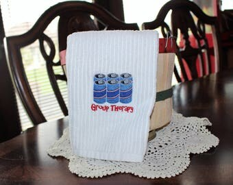 Group Therapy Embroidered Kitchen Towel