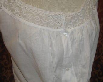 "1900, 32"" bust, white cotton camisole"