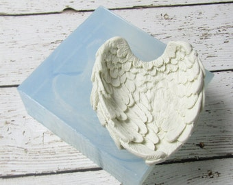 Angel Wings One Piece Soft Silicone Mold  Soap Polymer Clay Cake Mold