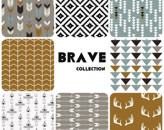 Custom Crib Bedding Set - Brave