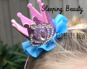 "SLEEPING BEAUTY CROWN with Rhinestone Crown Embellishment-approximately 2""x2"""