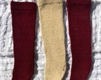 Knitted stockings - set of 3