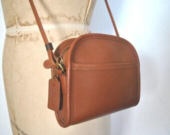 ABBIE Coach Brown Purse / Britsh Tan leather bag / Small