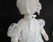 Christening Baptism Gown Infant Baby Conversion from Wedding Dress RESERVED