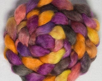 Yummy soft luxurious fibre, Wensleydale fiber, Handspinning, felting materials, felting projects, hand painted tops, organic roving, Yummy