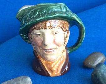 Vintage Toby Mug Man in Green Hat and Earrings Royal Doulton Made in England Pirate Pitcher