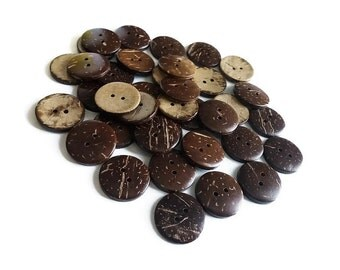 36 Coconut Shell Buttons 20mm - Bulk Set 25% off (BC603BX)