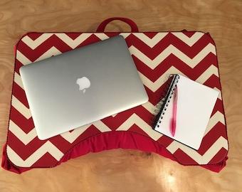 Large Red Chevron Lap Desk