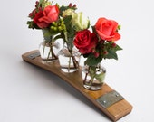 Barrel Stave and Glass Centerpiece