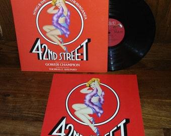 42nd Street Vintage Vinyl Broadway Musical Soundtrack Record