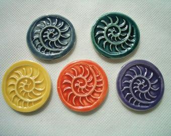 5H - NAUTILUS Stamped Tiles - Ceramic Mosaic Tiles