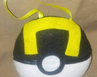 Pokemon Ultraball Pokeball Plush Ornament/ Hanger