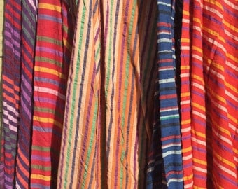 Wholesale bulk Clothing. Tops and Skirts. 9 Piece lot. Cotton gauze. India cotton. Wrap top. Wrap skirt. Deadstock. 1970 70s. Stripes. S M L
