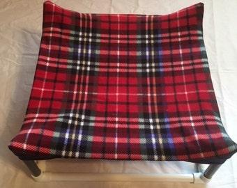 Red plaid pet hammock