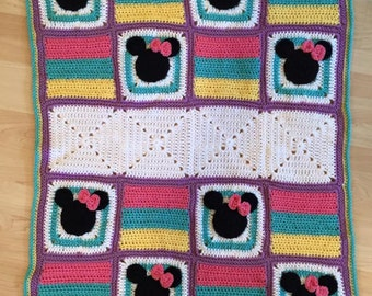 Crochet Baby Girl Minnie Mouse Blanket