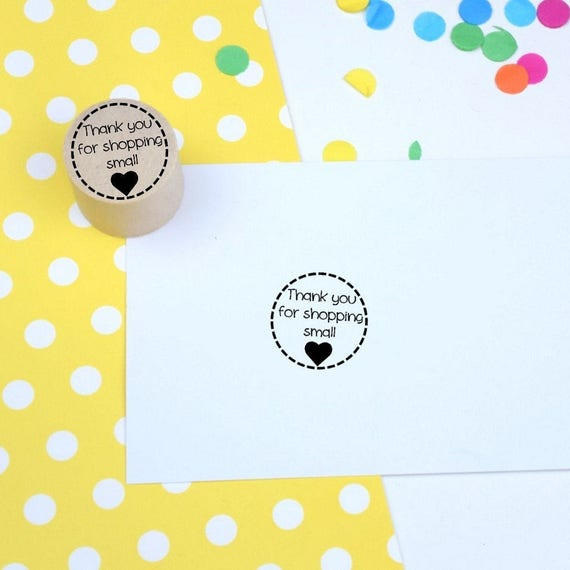 Thank You For Shopping Small Mini Stamp Rubber Stamp