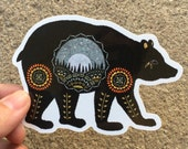Ursa Major Bear Paper Cutting Sticker