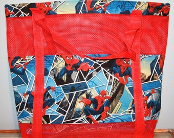 Spiderman Vinyl Mesh Tote
