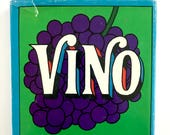 Vintage Vino Book, Wine Facts, Groovy Illustrations, Mid Century Mad Men