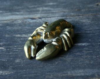 Vintage Brass Lobster From Nowvintage on Etsy