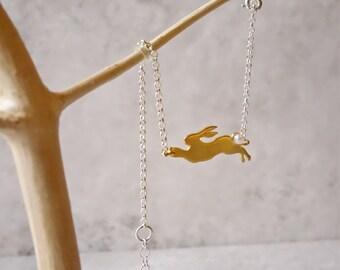 Gold Rabbit Bracelet, Rabbit Bracelet, Gold Bunny Bracelet, Animal Bracelet, Gold Rabbit, Gold Bracelet, Easter Bracelet, Gold Bunny