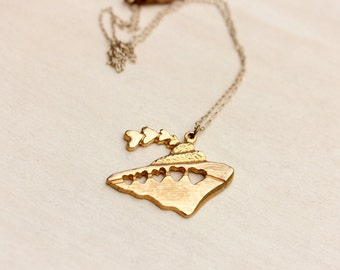 Ship Charm Necklace