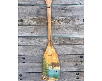 Oar - Paddle - Wooden Oar - Wood Oar - Wooden Paddle - Wood Paddle - Losgw Decor - Cabin Decor - Rustic Decor - Chic