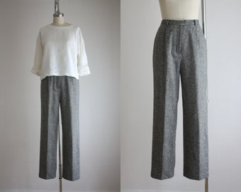vintage heathered wool trousers