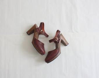oxblood leather sandals size 6