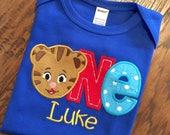Boys ONE shirt, Daniel Tiger Birthday Shirt, Daniel Tiger Birthday Ideas, Boys Daniel Tiger Shirt, Daniel Tiger Birthday, Daniel Tiger
