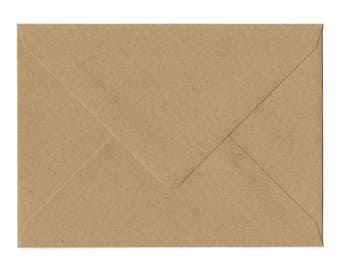Natural Kraft A6 Envelopes 25/Pk