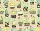 Michael Miller Fabric Cactus Hoedown in Tan, Choose your cut