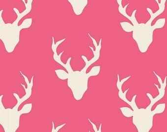 Hello Bear Buck Forest Camellia Art Gallery Fabric