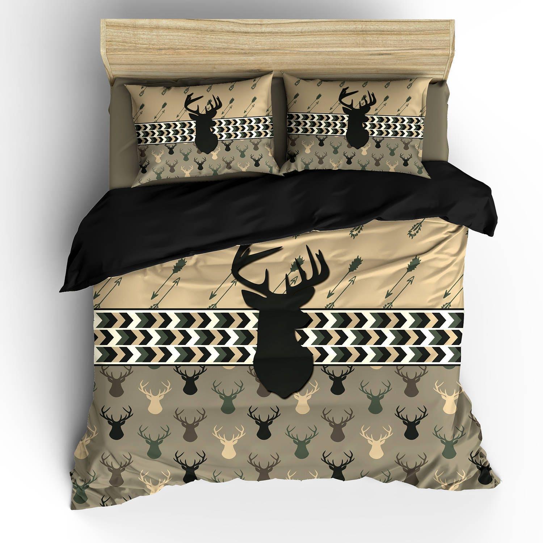 Custom Personalized Camo Colors Deer Head Amp Antler Bedding Set